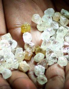 exportação de diamantes
