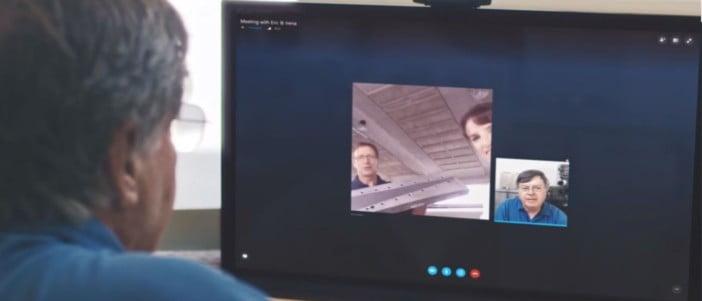 Chamadas via Skype