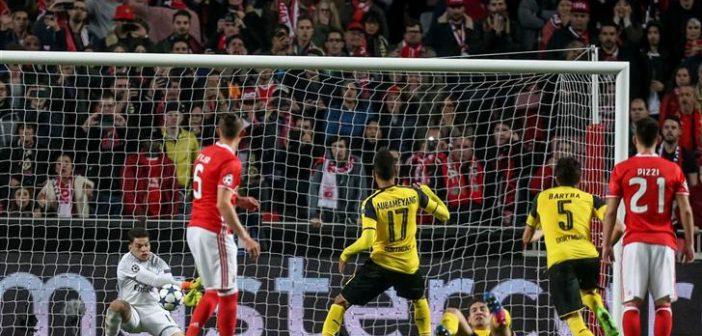SL Benfica recebe e vence Borussia Dortmund por 1-0
