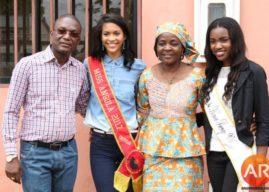 Miss Angola Lauriela Martins põe a mão na terra e vive um dia de mulher rural