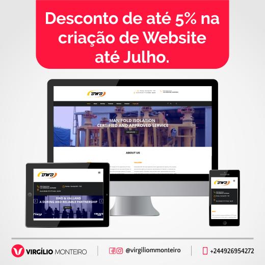 Promoção de 5% na criação de Websites (VMM)