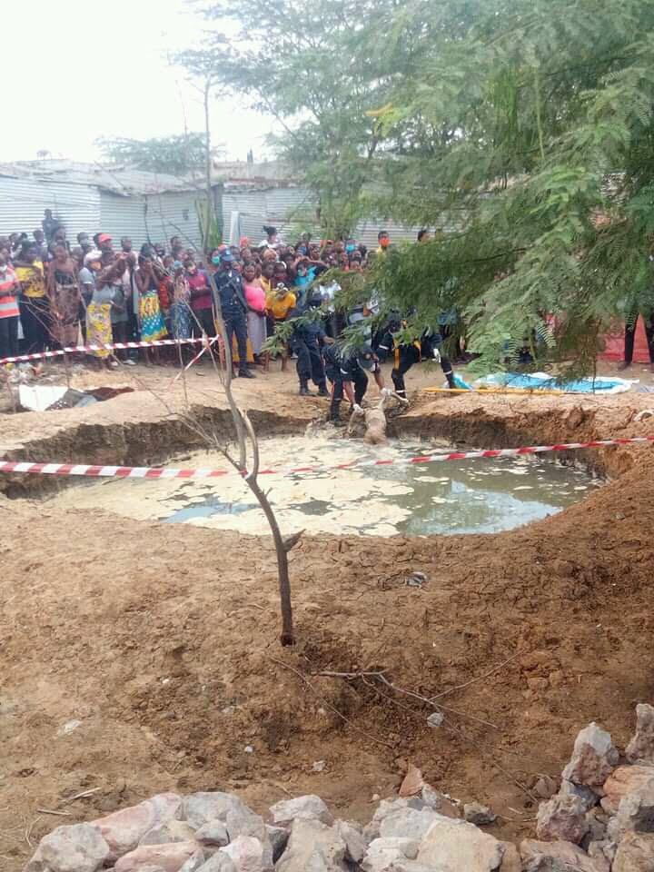 Tanque onde foi encontrado as meninas mortas